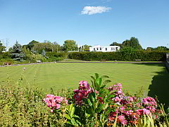 Brentwood Bowling Club's lower green at King George's Playing Fields.