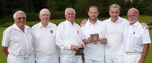 MORTON TROPHY WINNERS: From left, Geoff Byatt, Ron Lofts, Byron Davies, Adam Smith, Eric Wakefield and John Howard.