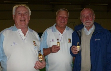 Brentwood Bowling Club top rink players Byron Davies, John Young and John Howard.