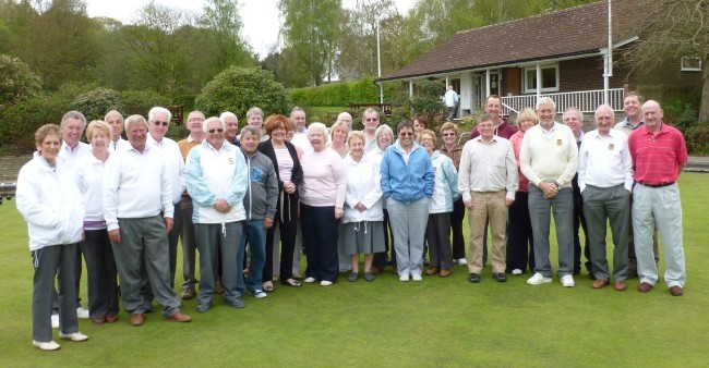 Visitors and members pictured on the lower green on Open Day at Brentwood Bowling Club