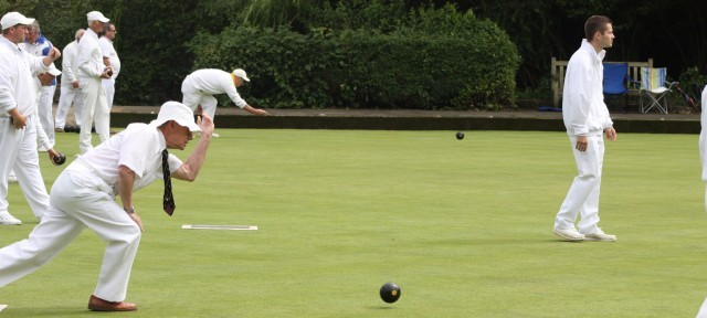 TRIPLES: Entrants pictured during the 2012 Men's Invitation Triples.