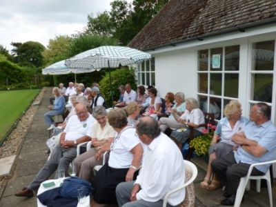 TEA TIME: Players and spectators enjoy a welcome break.