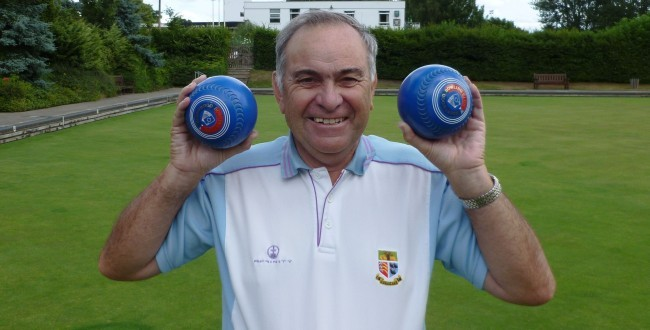 Brentwood Bowling Club' captain Richard Rose with his prized blue woods.