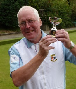 SINGLES FINALIST: Les Powell with his runner-up trophy.