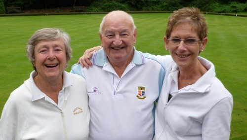 Joan Stevenson, left, Roy Akers and Ann Betts. Ron Jolly was not available for the photo.