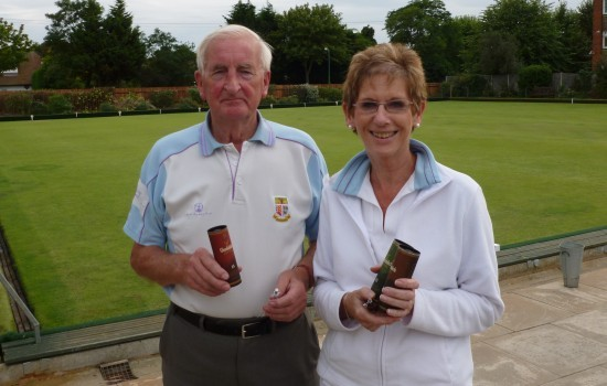WINNERS: Ron Jolly and Ann Betts were on Brentwood's winning rink with Janet Howson who was not available for the photo.