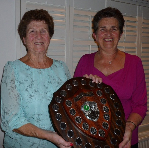 PAIRS SUCCESS: Julie Dixon, left, and Pam Robinson, winners of the Warley Woods pairs shield.