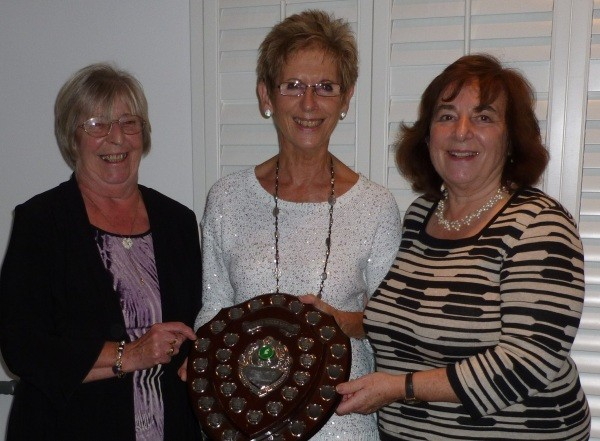 TRIPLES WINNERS: Margaret Rayment, left, with Ann Betts and Alison Dartnell.