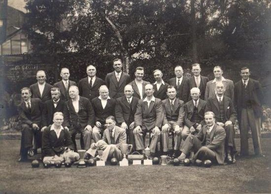 Photo of Brentwood Bowling Club members taken in the 1930s.