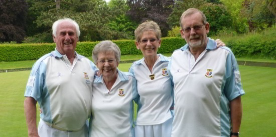 Brentwood Bowling Club winning rink - from left, Byron Davies, Marje Shute, Ann Betts and Keith Howson.