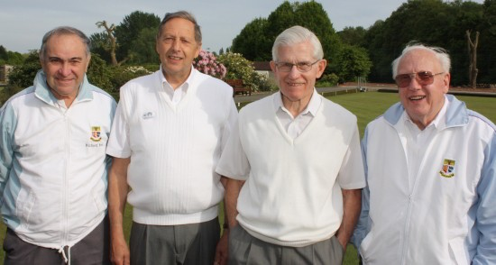 Mixed drive prize winners were, from left, Richard Rose, Dave Sach, Rob Dellar and Cliff Jaycock.