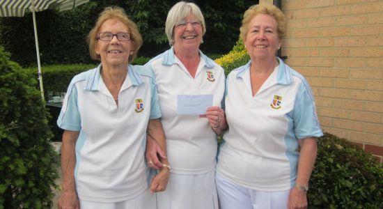 TRIPLES JOY: Kath Jolly, Margaret Rayment and Maureen Jaycock won cash prizes.