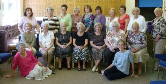 Brentwood Bowling Club ladies who attended the 40th anniversary party.