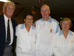 WINNING RINK: Jim Dixon, Pam Robinson, Les Powell and Joan Stevenson.