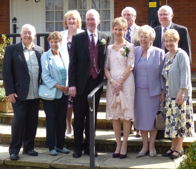WEDDING LINE-UP: Some of the Brentwood bowlers who helped to celebrate Les and Ann's wedding