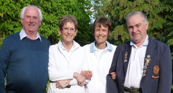 WINNING RINK: Byron Davies, left, with Ann Powell, Janet Howson and skip Richard Rose.