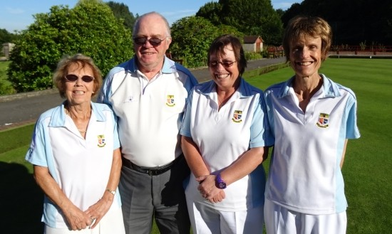 WINNING RINK: From left, Kath Jolly, Ron Lofts,Sue Hickman and Janet Howson.
