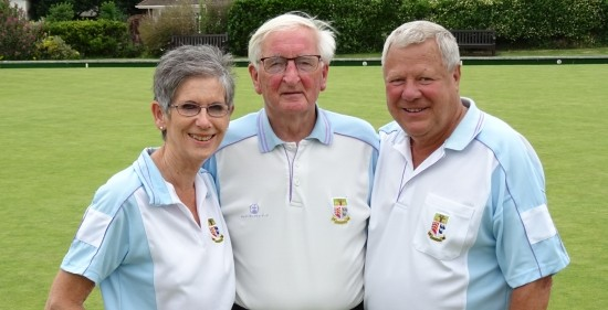 TOP TRIO: Brentwood's Ann Powell, Ron Jolly and John Young