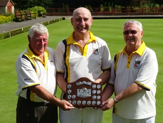 RUNNERS-UP: South Benfleet and Canvey, from left, Jim Bruce, Peter Hitchcock and Jim Docherty.