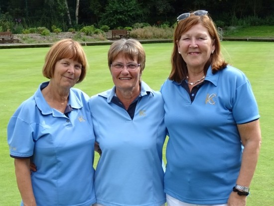 THIRD PLACE: Kings Chase 2 - number two Shirley Martin, skip Ann Sutton and lead Janice Alsford.