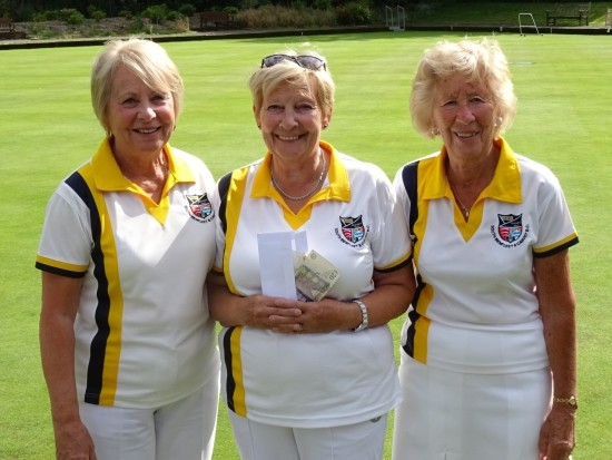 RUNNERS-UP: South Benfleet & Canvey - lead Pat Hackett, skip Mavis Starkey and number two Josie Howard.