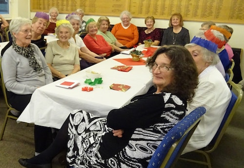 Brentwood Bowling Club ladies pictured at their Christmas afternoon tea December 2016