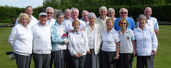 Players who took part in the opening event of the 2017 season at Brentwood Bowling Club.