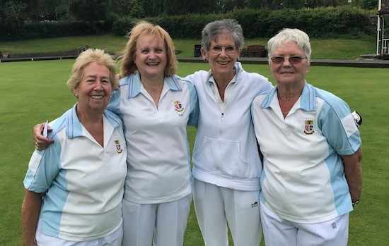 Brentwood Bowling Club ladies' team, from left, Maureen Jaycock, Kate Davies, Ann Powell and Maureen Murrell.