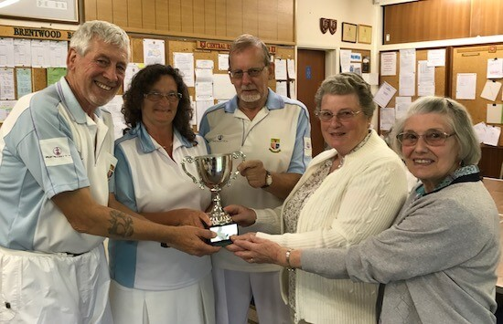 Winners of the 2017 Richards Trophy: from left, Fred Wasmuth, Alison Hare and Keith Howson with Janet Alderton and Celia Eade.