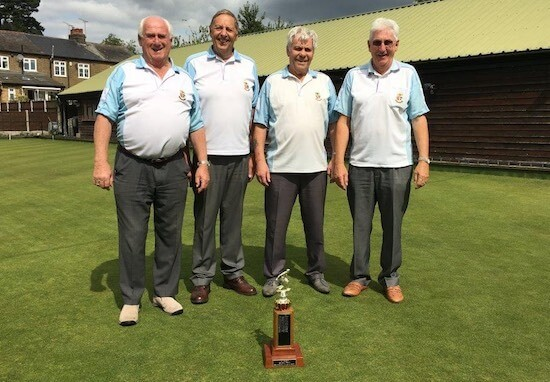Brentwood Bowling Club's top rink in the 2017 Philpot Trophy competition, from left, Byron Davies, Dave Sach, Harry Egleton and Peter Wilson.