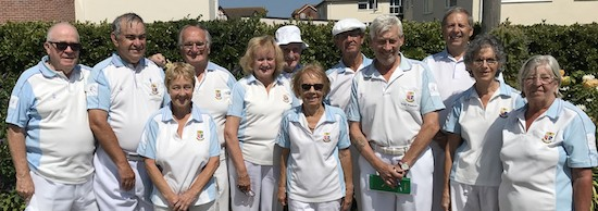 Brentwood Bowling Club players on their annual visit to Clacton Bowling Club 2018