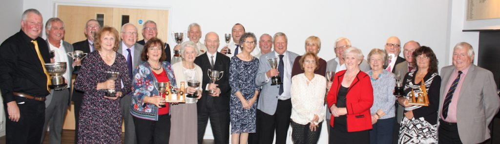 Brentwood Bowling Club competition winners and runners-up pictured at the 2018 presentation evening.